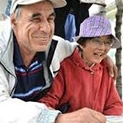 Японка и нашенец гледат кози в Каравелово