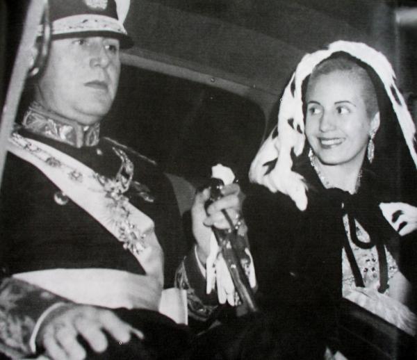 """Резултат с изображение за """"- Аржентина - сватба на Хуан Перон за Ева Мария Дуарте."""""""