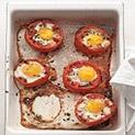 Домати, пълнени с яйца