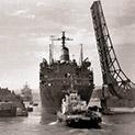 Случки: Кораб цепи Аспаруховия мост