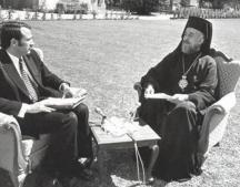 Иван Гарелов на интервю с кипърския президент Макариос