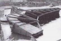 Събореното от съветския кораб съоръжение.