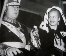 Президентът на Аржентина Хуан Перон със съпругата си Ева
