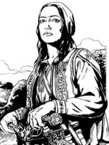 Румена войвода - така я е видял художникът в по-нови времена