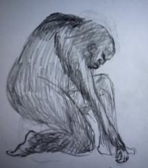 Рисунка на очевидец след среща с горското същество