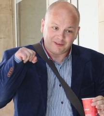 Подсъдимият Александър Симов, журналист и депутат от БСП