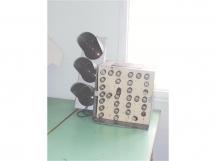 Броячът работел с електрически крушки, които отдавна са изчезнали.