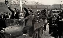 Посрещане на нашите войници във Вардарска Македония през 40-те години