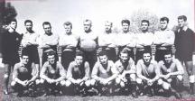 Една от най-успешните гарнитури на ЦДНА - Георги Найденов е първият вляво на втория ред