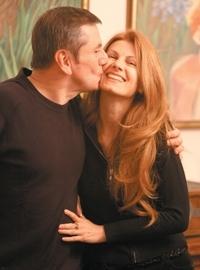 Иля Велчев със съпругата си художничката Милена Велчева