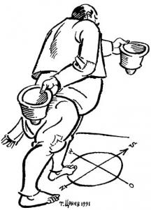 Бай Ганьо: С една глава, ама с два калпака! Карикатури Тодор Цонев