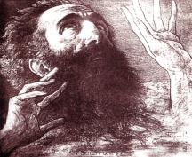 Портрет на Владимир Димитров – Майстора (рисунка на Борис Георгиев).