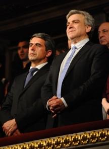 Министърът на културата Владимир Пенев и президентът Росен Плевнелиев