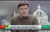 Коментаторът Нийл Кларк, снимка от телевизионнияекран.