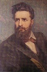 Живописен портрет на Ботев, художник - Димитър Гюдженов
