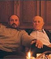 Писателят със своя син - скулпторът Александър Хайтов