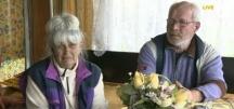 Баба Шина и дядо Георги. Снимка от телевизионния екран