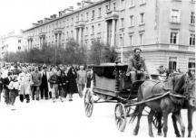 Погребението на поета в Димитровград