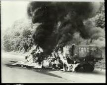Снимка от трагедията - секунди след катастрофата на Витиня