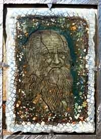 Портрет от стъкло от изложбата на Ставри Калинов в галерия
