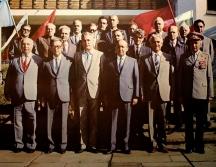 Висшето партийно ръководство на социалистическа България - Гриша Филипов е вдясно от Тодор Живков