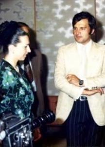 Людмила Живкова с втория си съпруг Иван Славков-Батето