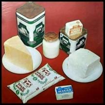Млечните продукти през соца - кеф ти масло, кеф ти сирене, кеф ти кашкавал. Маргаринът го нямаше още...