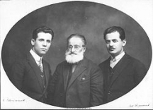 Симеон Евтимов (вляво) заедно със съратниците си от ВМРО Никола Малешевски и Иван Трифонов