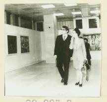 Людмила Живкова и Светлин на изложба