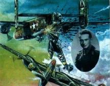 Таранът на самолета на Списаревски