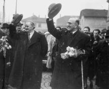 Февруари, 1946. Силните на деня - Георги Димитров (още само шеф на БКП) и Кимон Георгиев (все още премиер)