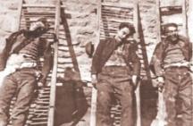 Труповете на убити партизани