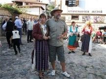 Овчаров-младши заедно със съпругата си