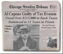 Години наред името на Ал Капоне бе на първите страници на американските вестници