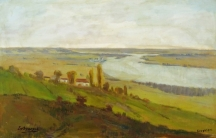 """""""Изглед от Дунава"""", масло, Художествена галерия – Силистра"""