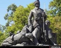 Паметникът на Гюро Михайлов и другарите му