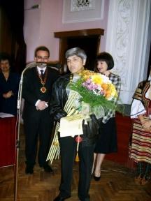 Пенка Методиева на церемонията по обявяването й за почетен гражданин на Перник