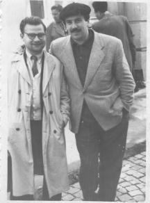 Башев с поетичния си събрат Орлин Орлинов