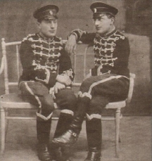Панчо и Любен Владигерови като музиканти в Лейбгвардейския полк