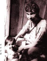 С прославения си баща Григор Вачков като съвсем мъничка...