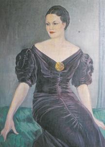 Живописен портрет на Багряна от художника Иван Табаков