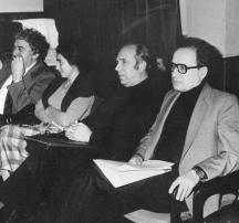 Найденов (първият вдясно) в Съюза на българските журналисти