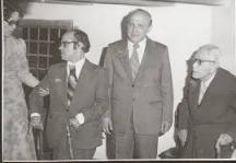 Височайша среща - Надя и Дамян при Тодор Живков. Вдясно е председателят на БАН академик Тодор Павлов.