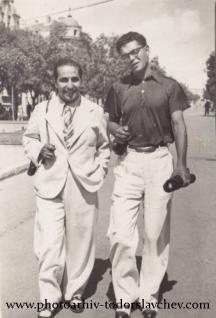 Тодор Славчев (вдясно) със своя колега Димитър Кацев