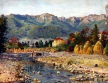 Картина на заслужилия художник Здравко Александров, роден в селото. Александров вече е покойник.