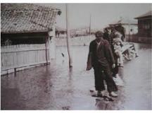 Видинчани след сполетялото ги бедствие.
