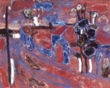 Един от пейзажите на Русев като сюжет на картичка