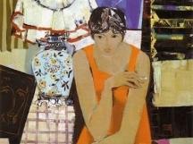 Живописен портрет на Катя Паскалева от съпруга й - художникът Георги Божилов-Слона