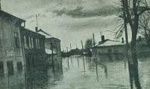 Улиците на Видин по време на потопа