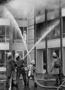 В гасенето на пожара се включили десетки пожарникари